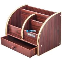 Combination Desk Office Pen Holder With Drawer Large Capacity Manufactures