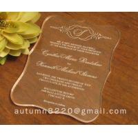 Wholesale wasteful wedding invitation card from china suppliers