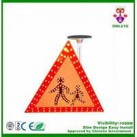 Wholesale Road signal warning solar guide sign triangle solar traffic sign crossing sign from china suppliers