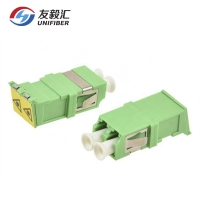 China Shuttered LC Adapter Duplex Coupler, Single Mode LC Adapter Shutter for eye safety protection on sale