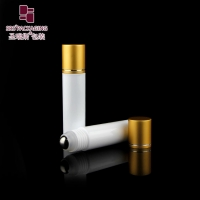 Buy cheap SRS packaging empty cosmetic white color round shape 30ml roller ball bottle from wholesalers