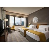 China Classic Style Hotel Project Furniture For Bedroom Dark Wood Crowne Plaza on sale