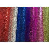 Wholesale Waterproof Colorful Glitter Wall Fabric , Glitter Fabric Roll PU Material from china suppliers