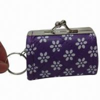 Wholesale PU Coin Purse with Keychain, Various Colors are Available from china suppliers