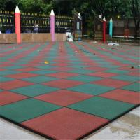 China Outdoor nontoxic anti-slip gym rubber mat rubber tile for playground on sale