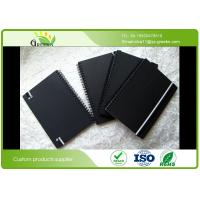 Buy cheap Custom Ruled Black Cardboard Hardcover Spiral Notebook for School / Office product