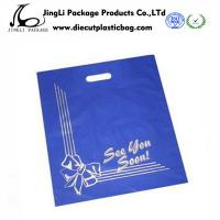 Wholesale Flat Small Biodegradable Plastic Bags Die Cut Handle bag Carving plate printing from china suppliers