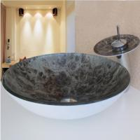 Wholesale Hot Sales round coloured double layer glass wash basin price ,bathroom wash basin from china suppliers