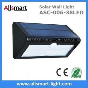 China 38LED 550 Lumens 7W Motion Sensor Solar Wall Light PIR Sensor Light Triangle Solar Lights Chinese Manufaturer Supplier on sale