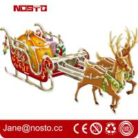 Wholesale Christmas decoration reindeer sleigh with night edition giftware 3d puzzle from china suppliers
