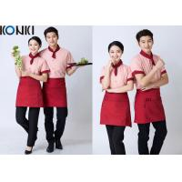Wholesale Stripe Shirt Restaurant Staff Uniforms Embroidered Workwear For Women from china suppliers