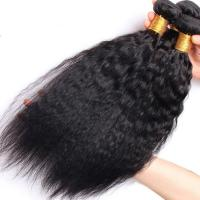 Wholesale Brazilian / Peruvian Kinky Straight Virgin Human Hair Bundles With Natural Color from china suppliers