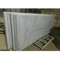 Carrara White Marble Stone Kitchen Countertops Sink Hole For Construction