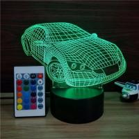 Buy cheap Indoor Acrylic 3D LED Smart Car  Night  Light for Gift ,Car shape Decoration LED Light in many colors from wholesalers