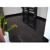 Quality Black Wood Marble Stone Tiles For Hotel Decoration Vein Cut Acid Resistant for sale
