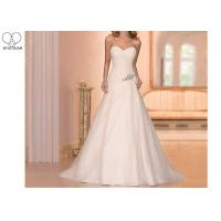 Wholesale White Strapless Chiffon Mother of The Bride Dresses Beading Bandage Sweep Train from china suppliers