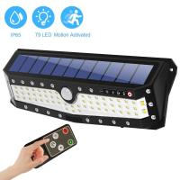 Wholesale 79LED USB Charging Motion Sensor PIR Solar Powered Led Wall Light With Remote Control from china suppliers