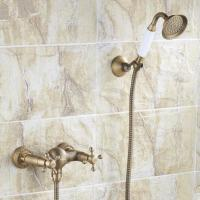 Antique Brass Finish Two Handles Tub Faucet with Hand Shower - FB005
