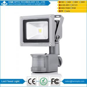 China 10W LED Warm white PIR Spot Light Security Garden LED Floodlight Waterproof on sale