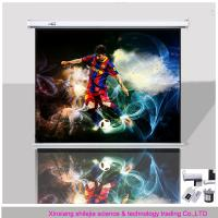 Wholesale format 4:3 100'inch motorised projection screen/high definition electric projection screen/big size projector screen from china suppliers