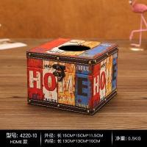 China Retro Vintage Tissue Box Kleenex Tissue Box Cover Holder Decorative Retro Design on sale