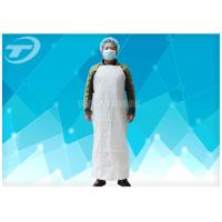 Wholesale Plastic Coated Aprons Waterproof  43 Gsm / Disposable White Coats from china suppliers