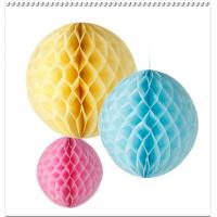 Wholesale Party Decoration colorfull Tissue Paper Honeycomb Balls,Diamonds Peach,Bauble from china suppliers