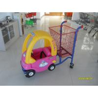 Wholesale Red Powder Coated childrens shopping cart travelator casters With Toy Car from china suppliers