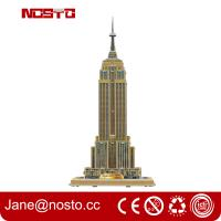 Wholesale Intelligent DIY Building Paper 3D Puzzle Famous Building from china suppliers