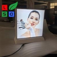 Wholesale Double Side Desktop Light Box Picture Frame , LED Fabric Light Box Longlife from china suppliers