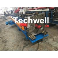 Wholesale PPGI, Aluminum Round / Rectangular Downspout Roll Forming Machine With 20 Roller Stations from china suppliers
