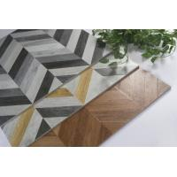 China 3D Glazed Wood Grain Surface Bathroom Floor Tiles Water Resistant on sale