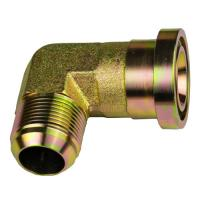 China 90 Degree 37 Degree Jic Fittings  / Brass Tube Turn Pipe Fittings on sale