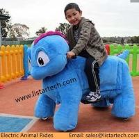 Plush Steel PU Material Walking Animal Rides, Ride On Toy Style Moving Animal Toy for sale