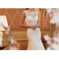 Wholesale Romantic Mermaid Bridal Gowns , Ivory Mermaid Wedding Gown Long Fishtail from china suppliers