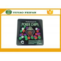 Wholesale 100 Pcs Tin Box Texas Holdem Luxury Poker Chips Set Personalized Poker Chips from china suppliers