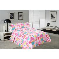 Wholesale Cake Pattern Printed Quilt Set Washable 240x260 / 260x280cm Bed Cover Sizes from china suppliers