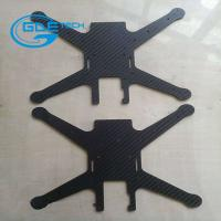 Wholesale cnc glossy twill carbon fiber universal plate, carbon fiber cnc cutting parts for drones from china suppliers