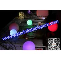 Rgb led inflatable decoration glow balloon led for Water balloon christmas decorations
