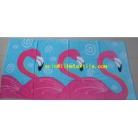 Quality 100% cotton velour printed beach towel 90X180CM GSM500 new design for sale