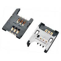 Wholesale 2.54 Pitch SIM Card  Connector , Sim Card Socket  6P With Shielded SMT 1.8H from china suppliers