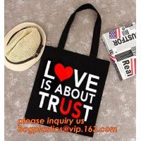 China Eco friendly custom printed shopping cotton handle bag with logo print,Long Handle Promotion Shopping Bag Promotion pac on sale