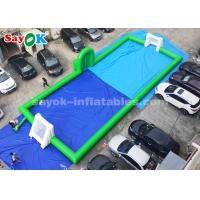 Wholesale Green Color 20*8m PVC Commercial Inflatable Soccer Field for Playing from china suppliers
