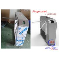 Wholesale Automatically Tripod Turnstile Gate , Rotary drop arm barrier Fingerprint Recognition Controlled from china suppliers
