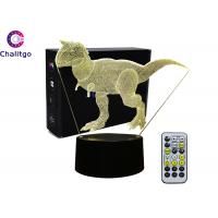 Wholesale Dinosaur Lamps for Boys Room High End 3D Nightlight for Kids 7 Colors from china suppliers