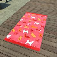 Wholesale 100 Cotton Reactive Patterned Beach Towels / Beautiful Dog Bath Towels from china suppliers