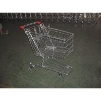 Wholesale European Type Supermarket Shopping Carts with PU casters , shopping trolley cart from china suppliers