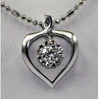 Wholesale Love Heart 18 Karat Gold Diamond Necklace Aphrodite Stamp KGS0103P from china suppliers
