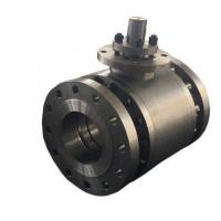 Wholesale ASTM A216 Trunnion Mounted Flanged Ball Valve Three Pieces from china suppliers