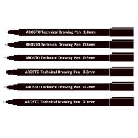 Quality Black Pigment Ink PP Technical Drawing Pens for Sketching or Writing Waterproof for sale